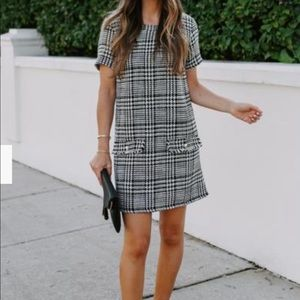 VICI Houndstooth Tweed Shift Dress - NWT
